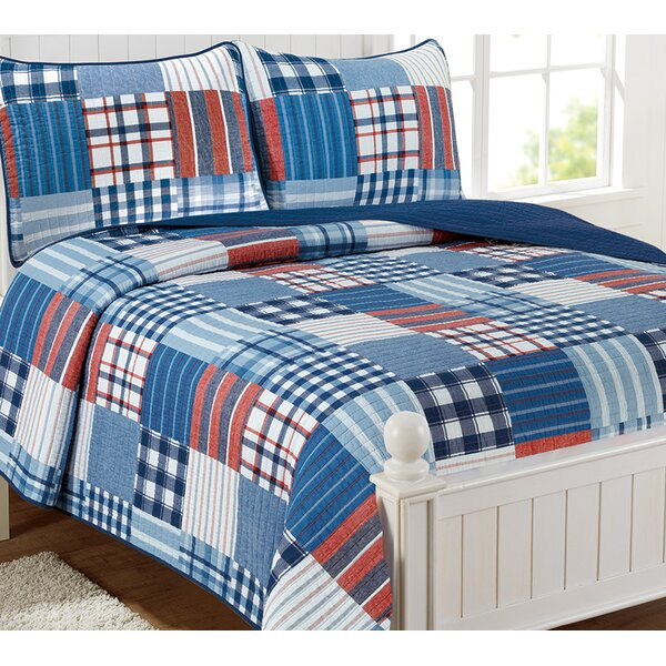 Seabeck Patchwork 100 % Cotton 3 Piece Quilt Set by Breakwater Bay